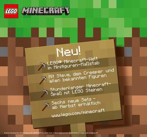 LEGO Minecraft Minifigures
