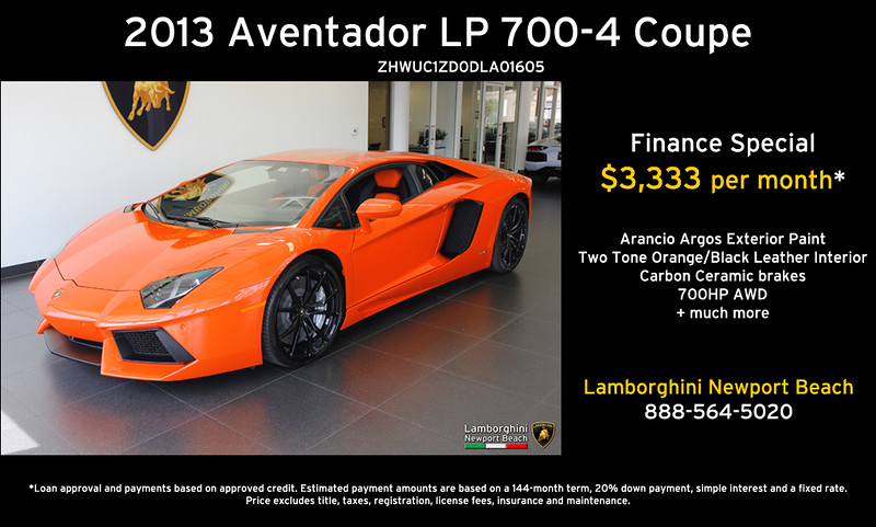 Lamborghini Newport Beach Lease U0026 Finance Specials   Only Until End Of June