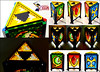 Mosaic LEGO Legend of Zelda Spiritual Stone Lamp (main photo)