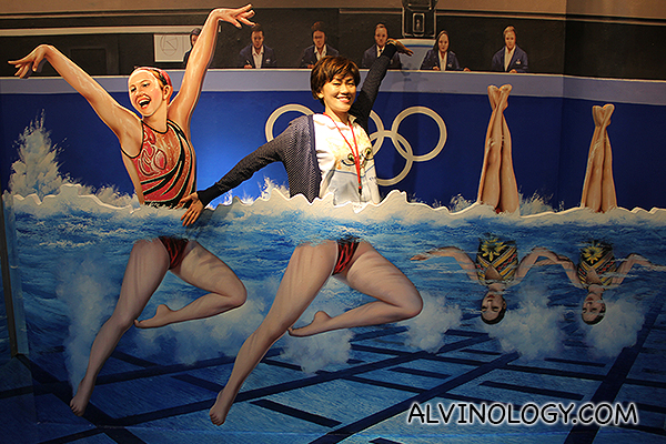 Olympic synchronised swimming