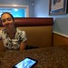 Amy at Chincoteague Diner #throughglass by brownpau