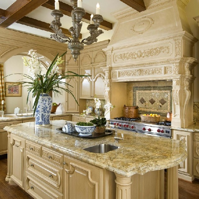 Most Beautiful Houses Interior Design Kitchen : Kitchen French Classical House in Highland Park TX dfw interior design ...