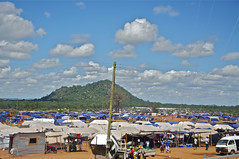 More than 18,000 people live in the Chingwizi transit camp in Mwenezi district, about 150 kms from their former homes in Chivi basin as they wait to be allocated one-hectare plots of land by the government. Credit: Davison Mudzingwa/IPS