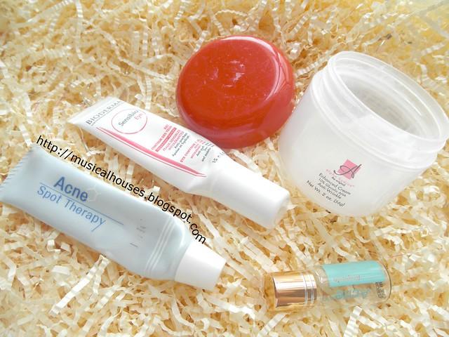 Empties Bioderma Eye Cream DHC Acne Cream Alpha Hydrox Glycolic Acid Cream Salicylic Acid