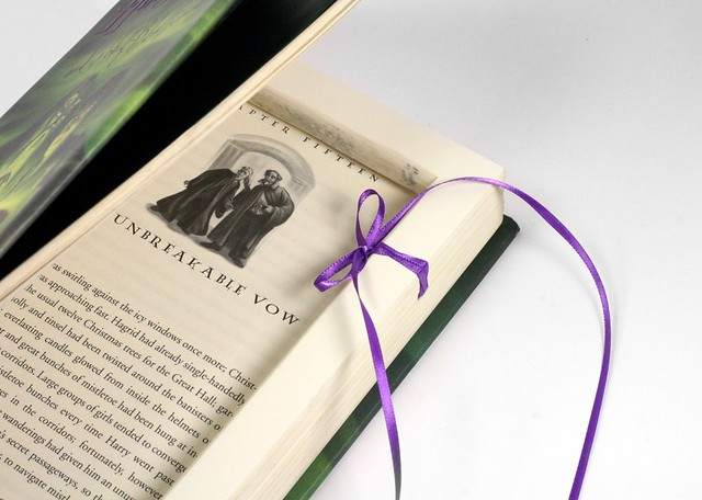 Unbreakable Vow Harry Potter Ring Proposal Hollow Book Box With Ribbon