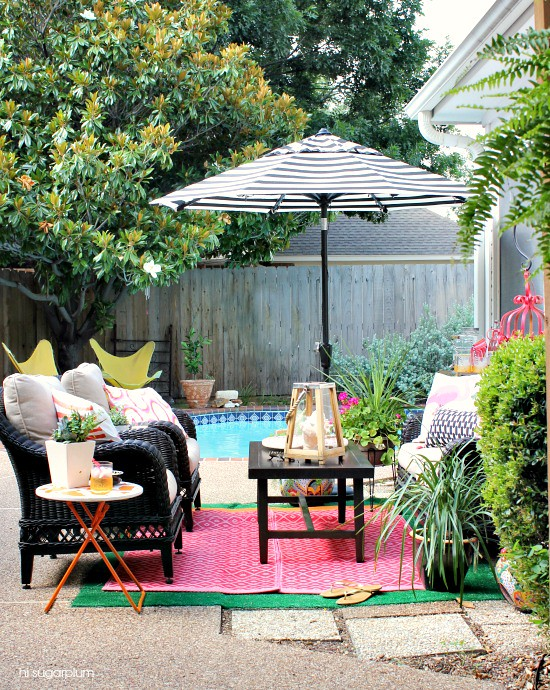 Hi Sugarplum | Color Patio Makeover