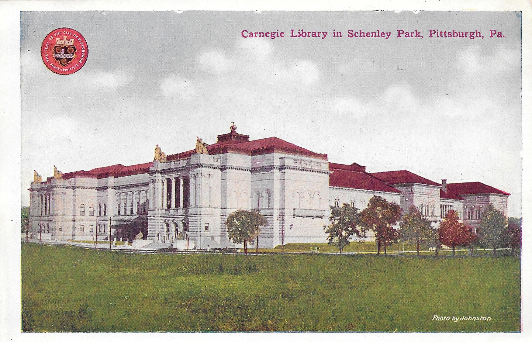 Postcard16-CarnegieLibrarySchenleyPark