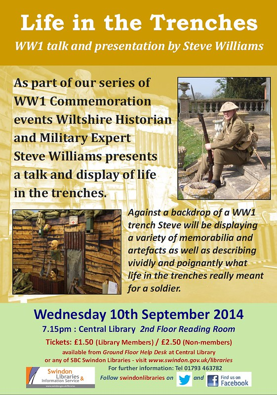 """2014: """"Life in the Trenches"""" WW1 talk by Steve Williams"""