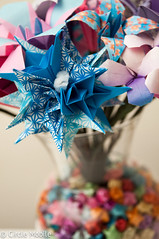 Flower Bouquet: Kusudama Close up