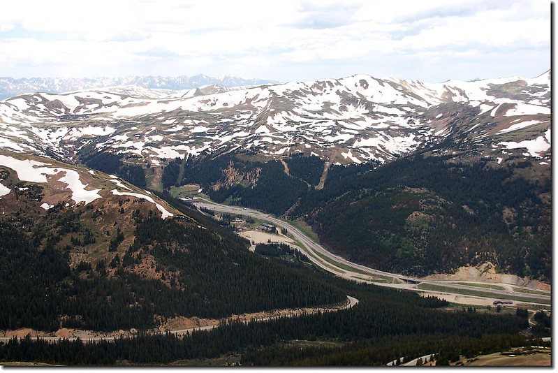 The Continental Divide and Eisenhauer Tunnel from Snkitaus s