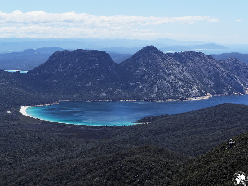 Wineglass Bay depuis Mont Graham