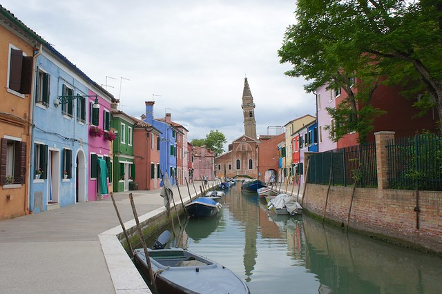 Leaning tower on Burano