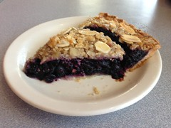 Blueberry crisp pie