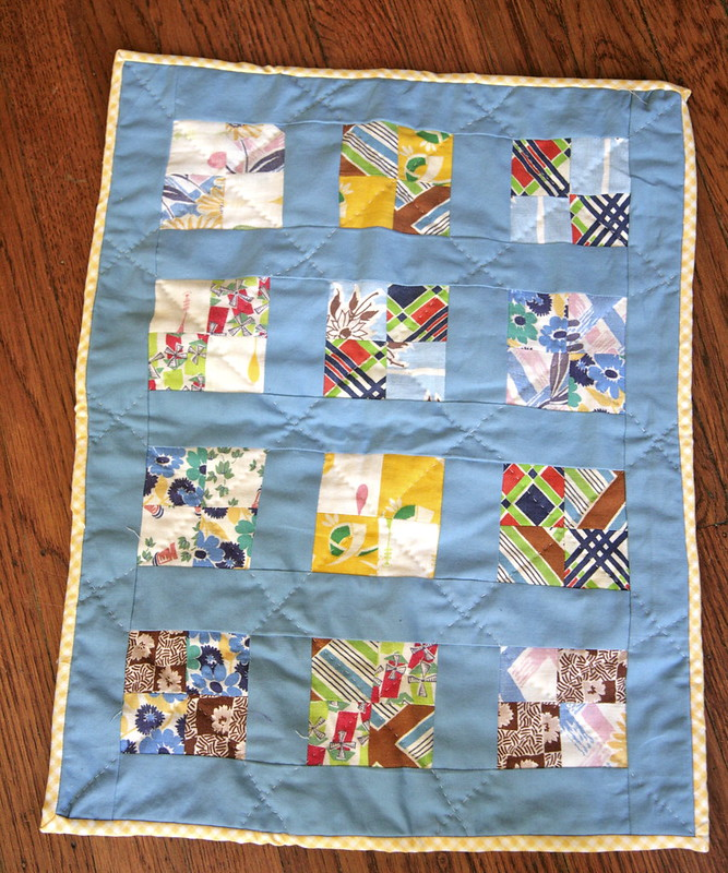Doll quilt.