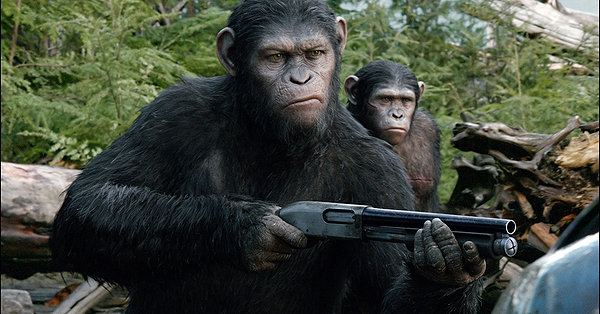 Andy Serkis gives Caesar personality in DAWN OF THE PLANET OF THE APES.