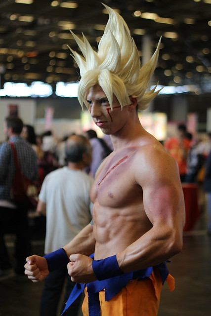 Cosplay de Sangoku de Dragon Ball (Glénat) à Japan Expo 2014