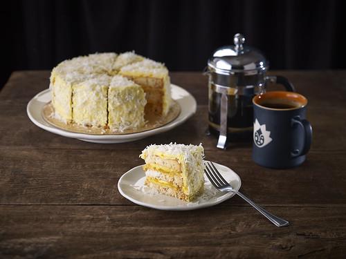 MANGO COCONUT SANS RIVAL CAKE