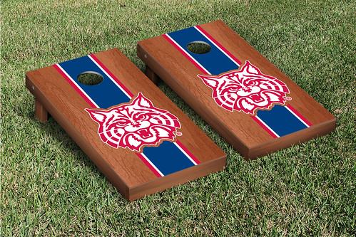 Arizona Wildcats Cornhole Game Set Rosewood Stained Mascot Version