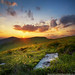 Carpathians mountains sundown