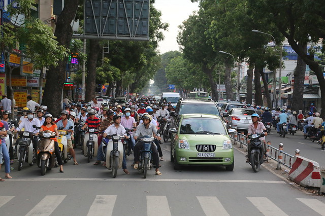 More scooters than cars in Ho Chi Minh City