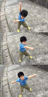 腕をぐるぐるするとらちゃん 2014/7