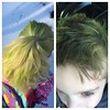 Green hair ... don't care! #stpatricksday #greenhair #dontcare