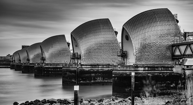 Thames Barrier - Overcast Morning
