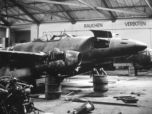 Messerschmitt Me-262, captured by US troops in Salzburg Austria