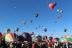 Balloons, balloons and more balloons at the Albuquerque Balloon Fiesta