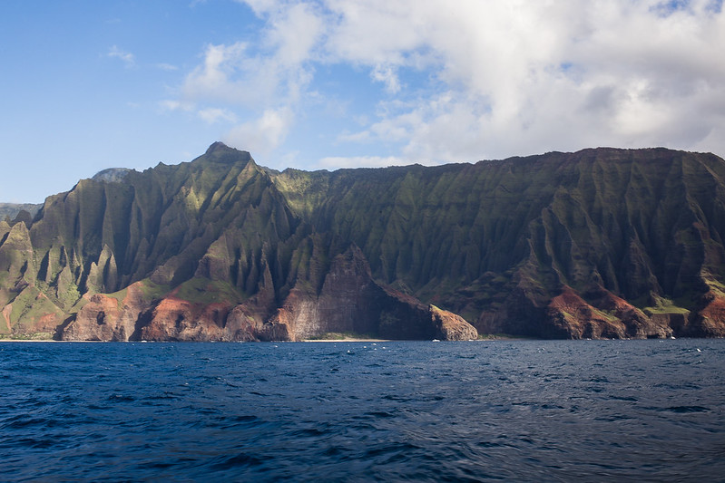 Napali coast from the sea - Kauai, Hawaii