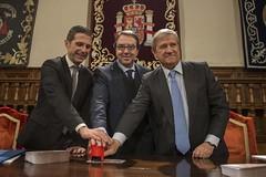 Alcalde de Alcalá, rector de la UAH y presidente de Correos