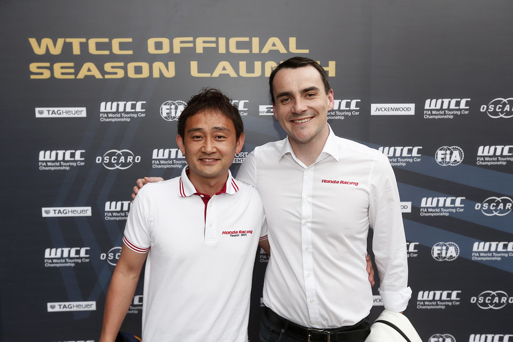 MICHIGAMI Ryo (jpn) Honda Civic team Honda racing team Jas ambiance portrait MICHELISZ Norbert (hun) Honda Civic team Castrol Honda WTC ambiance portrait during the 2017 FIA WTCC World Touring Car Race of Morocco at Marrakech, from April 7 to 9 - Photo Jean Michel Le Meur / DPPI.