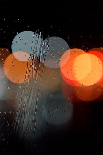 raindrop bokeh