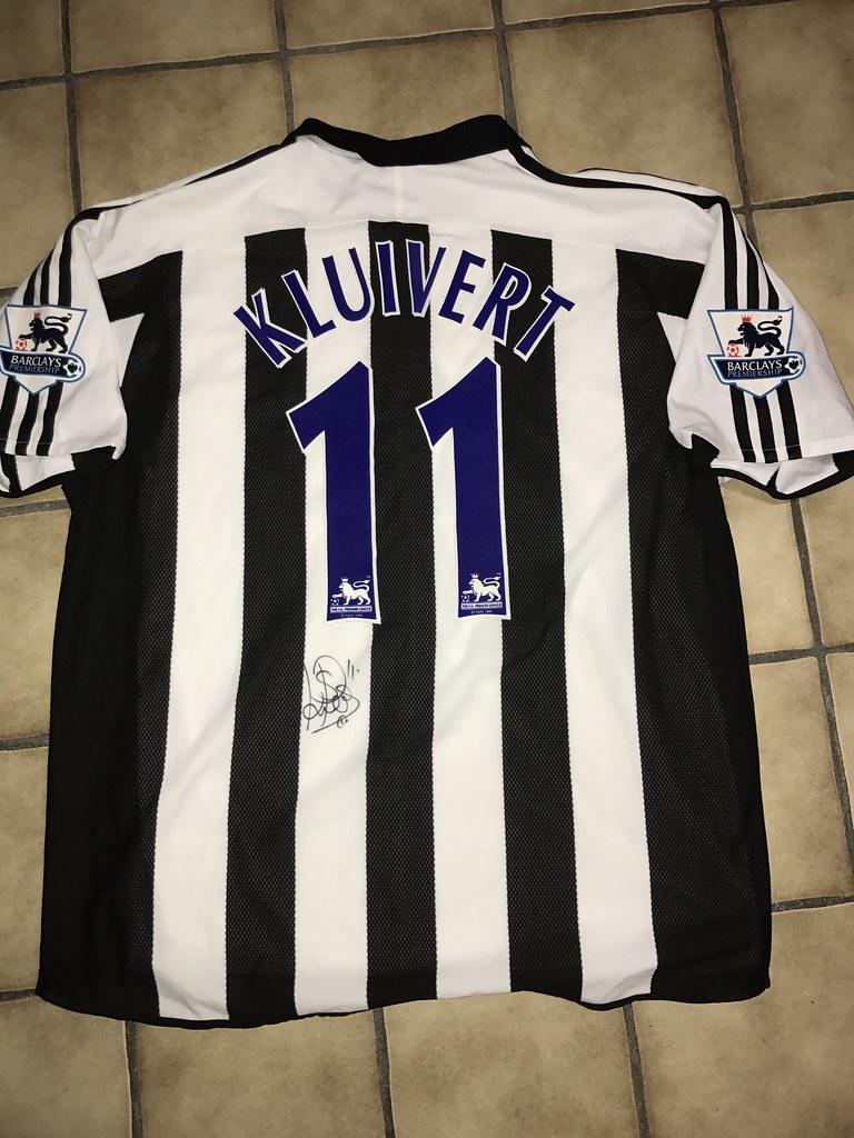 Match Worn Signed Shirt Patrick Kluivert  68651c69f