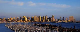 San Diego Skyline Sunset Panorama