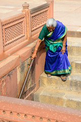Down the Stairs in Delhi