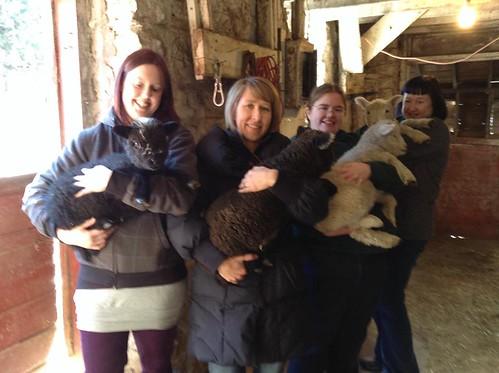 Holding Lambs (Me, Mary, Anna, Melanie)