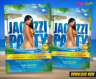 Jacuzzi Party Flyer Template