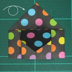 การพับกระดาษเป็นถุงใส่ขนมแบบญี่ปุ่น (Origami Sambo) 011