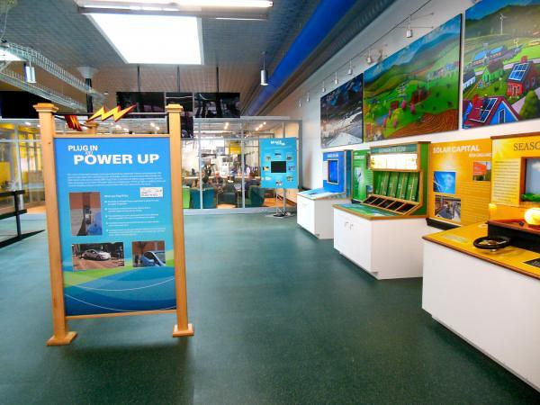 exhibit inside the Energy Innovation Center (by: Nina Keck, courtesy of Vermont Public Radio)
