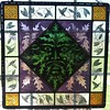 Greenman stained glass panel by mevrowka