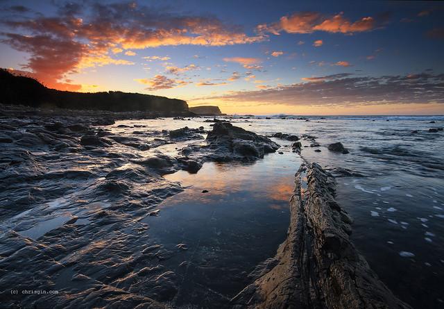 bay, sunrise, coast