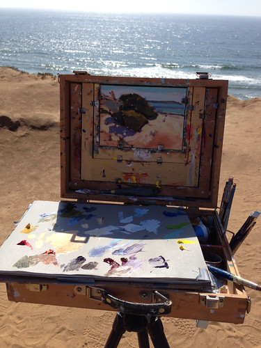 Painting in del mar