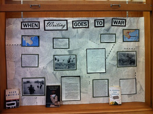 WRI 111 War Letters Exhibits in ZSR Library, WFU