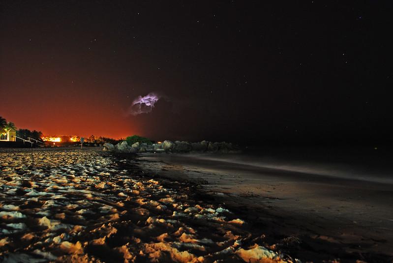 Long Exposure, Night Photo, Beach, Bahamas
