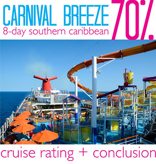 2014 Carnival Breeze Cruise Rating and Conclusion