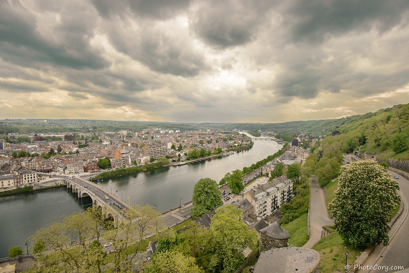 Namur Sambre river view from citadel Namur, Belgique