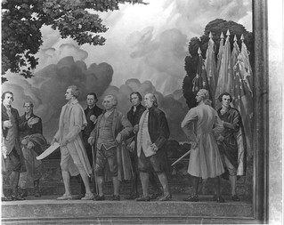 Photograph of the Right Section of the Mural, The Declaration of Independence, by Barry Faulkner, 10/27/1936