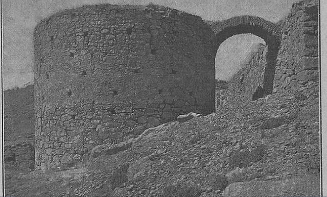 Torreón de Alfarach hacia 1900 por José Amador de los Ríos (publicado en Monumentos Arquitectónicos de España)