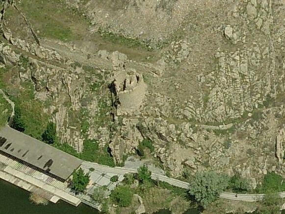 Vista aérea Torre de Alfarach en la actualidad